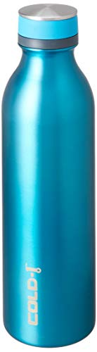 reduce COLD-1 Stainless Steel Vacuum Insulated Hydro Pro Bottle with Nonslip Rubber Base, 28oz - Tasteless and Odorless (Cerulean)