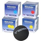Victor - Bolas de squash (4 tamaños diferentes)