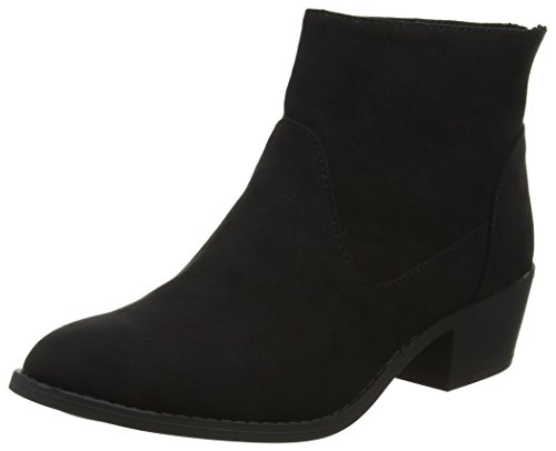 New Look Women's Suedette Western Ankle Boots Black (Black 1)