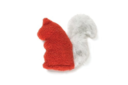 West Paw Design Sequoia Squirrel Squeak Toy for Dogs, Rust ()