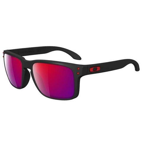 Oakley Holbrook Matte Black Red Lens - Oakley Red Holbrook