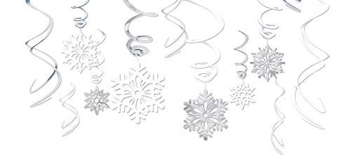 Snowflake Foil Swirls Value Pack, 12 Ct. | Christmas Decoration -