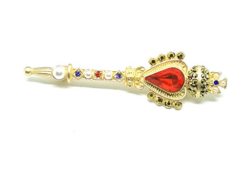 Retro Baroque Crown Cross Little Magic Rod (Cross Crown Pin)