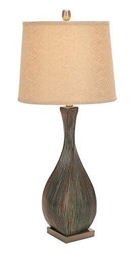UMA Set of 2 Ceramic/Metal Table Lamps, Multi/Beige - Dana Light Bulb Lamp