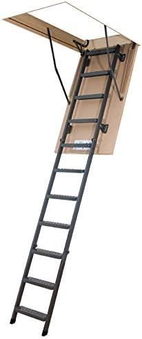 Escalera plegable – Altura máxima: Metal bajo techo 3.05 M: Amazon.es: Bricolaje y herramientas