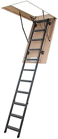 Escalera plegable – Altura máxima: Metal bajo techo 2.80 m: Amazon.es: Bricolaje y herramientas