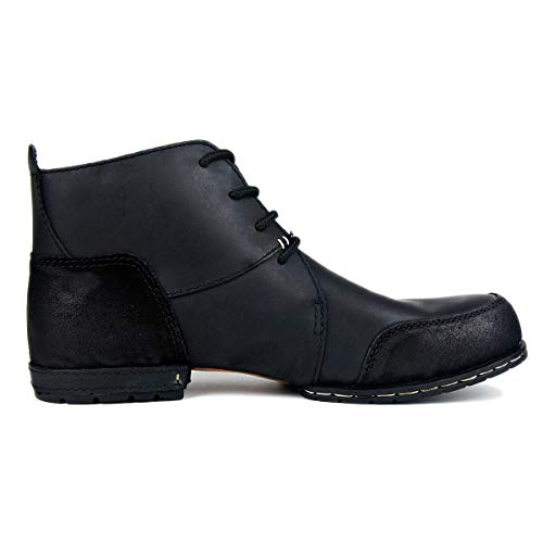 6015 Black Western Boots 7 Motorcycle Men Slip Mechanic Zipper Shoes ZONE Retro Low OTTO On Boots Leather OZ Space Chukka 4PqTHvWxgw