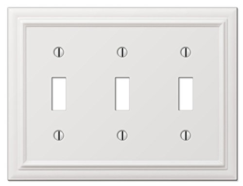 (Amerelle Continental Triple Toggle Cast Metal Wallplate in)