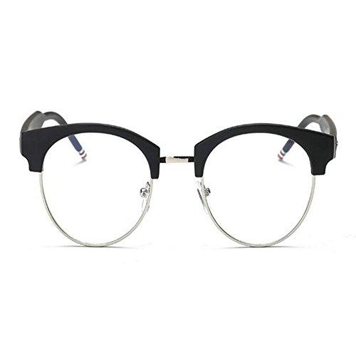 Negra Arena sin Mujer Anti fatiga de los Xinvision Previniendo Hombre Claro Gafas Vintage montura Moda azul Computadora luz Lente ojos Semi Filtro R8w18q4