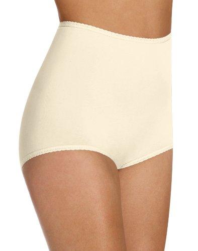 Bali Women`s Set of 6 Cool Cotton Skimp Skamp Brief - Best-Seller! 7, Moonlight (Bali Cotton Panties)