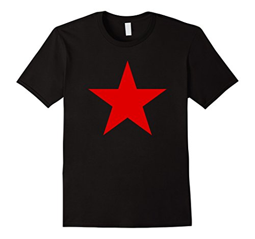 Mens CCCP Red Star Soviet Union T-shirt Large Black - Soviet Star Ussr T-shirt