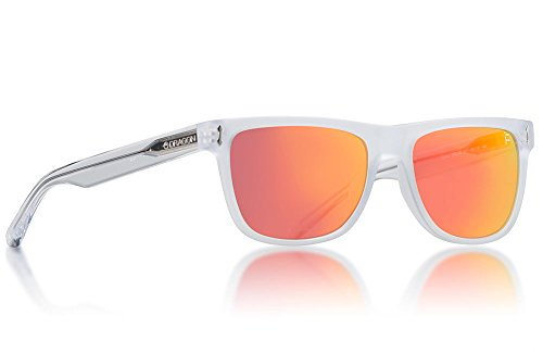 Dragon Brake Sunglasses Matte Crystal Clear with Red Ion Lens + - Sunglasses Proflect Dragon