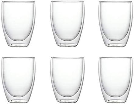 6 Stuks Hittebestendig Dubbelwandig Glaskommenbierespresso Coffee Cup Set Handgemaakte Thee Glas Whisky Glazen Beker Drinkhouder