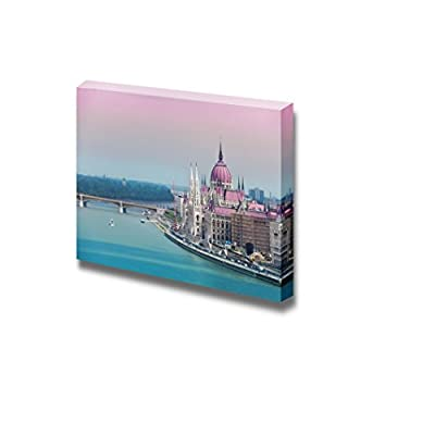 Canvas Prints Wall Art - Parliament and Matthias Church View from Top in Budapest, Hungrary | Modern Wall Decor/Home Decoration Stretched Gallery Canvas Wrap Giclee Print & Ready to Hang - 12