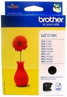 Brother LC121BK - Cartucho de tinta para impresoras, negro