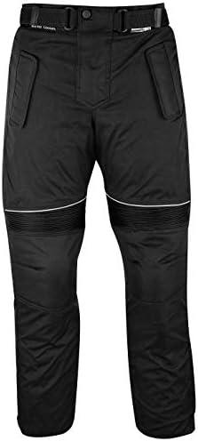 GermanWear® Motorradhose Cordura Textilhose, Schwarz, Größe:46