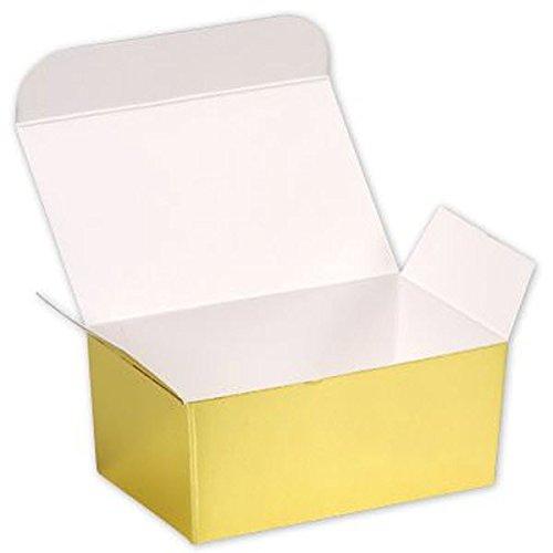 EGP Paper Ballotin Boxes 4 1/8 x 2 5/8 x 1 7/8 (Gold), 50 Boxes