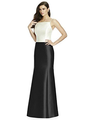 Dessy Style S2980 Floor Length Sateen Mermaid Maxi Skirt - Black - -