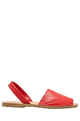 next Mujer Sandalias menorquinas Corte Regular Rojo
