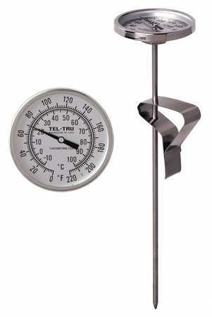 Bimetal Thermom, 2 in Dial, -10 to 110C