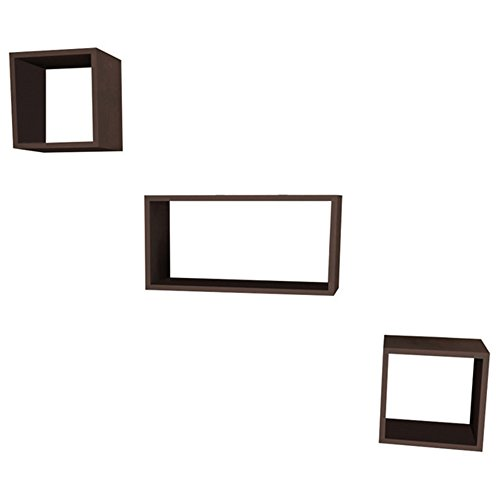 Wallace Modern Floating Wall Shelf Sq: 12'' x 12'' x 9'' / Rect: 24'' x 12'' x 9'' / Wall Storage / Shelving Unit - 12' Wall Shelf