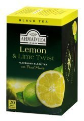2-pack Lemon & Lime Twist Black Tea - 20 Foil Bags Each -