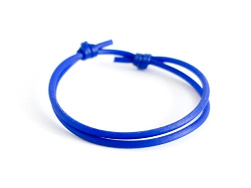 Knot Clasp - Sliding Bracelet Clasp Knot Mens Blue Rope Adjustable Jewelry Silicone Athletic Cord Cuff Fishing Fitness Gift