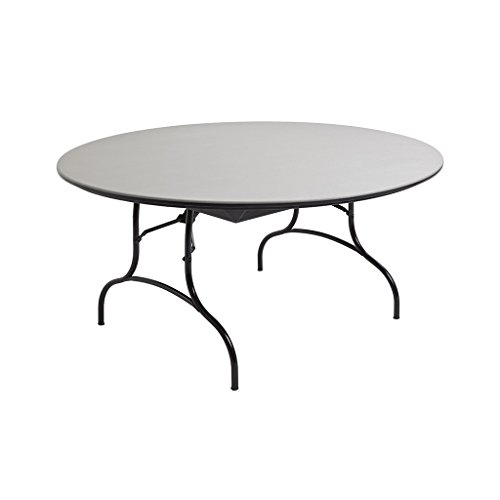 MityLite 60'' Round ABS Folding Table - Grey by MityLite
