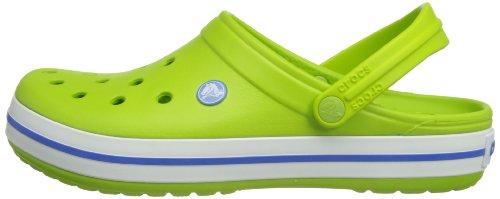 Green Crocband volt varsity Crocs Sabots Blue Vert Mixte Adulte dnfYqS