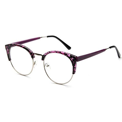 De Vue Clear Cat's Femmes Violet Vintage Retro Frame Fulision Eye Lunettes Half Hommes PgZvHzxqwA