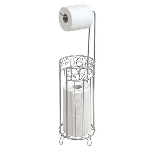 iDesign Twigz Metal Toilet Tissue Roll Reserve Organizer for Bathroom, Compact Organizer, -