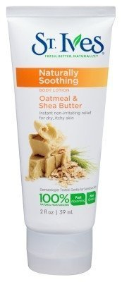 St. Ives Naturally Soothing Body Lotion, Oatmeal Shea Butter 2 Oz Travel Size (Pack of 3)