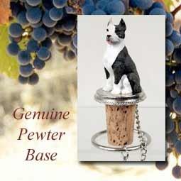 Stopper Pewter Bottle Natural Wine - Pit Bull Terrier Brindle Dog Wine Bottle Stopper - DTB65B by Conversation Concepts