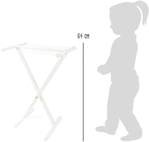 11413 Robusto e Perfetto per i Vestiti delle Bambole Giocattoli Small Foot-11413 Stendibiancheria in Legno per Bambini Small Foot Multicolore