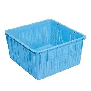 プラスケット/網目ボックス 【No.1150 金具付き】 ブルー スタッキング金具使用時:段積み可【代引不可】 B07PF82LCJ