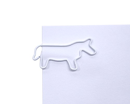 Butler in the Home Horse Shaped Paper Clips Great For Paper Clip Collectors or Office Gift - Comes in Round Tin with Lid and Gift Box (100 Count White) by Butler in the Home (Image #1)