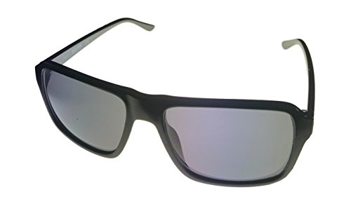 (Kenneth Cole Reaction Mens Rectangle Shiny Black Plastic Sunglass KC1323 1A)