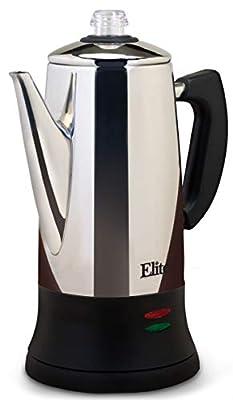 Elite Platinum EC-120 Maxi-Matic 12 Cup Percolator, Stainless Steel