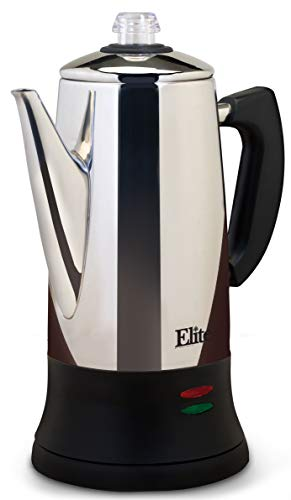 Elite Platinum EC-120 Maxi-Matic 12 Cup Percolator, Stainless Steel