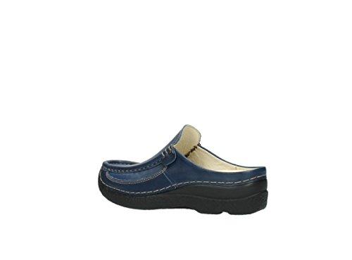 Wolky Roll Slipper 6202 Roll Slide 380 dunkelblau Leder