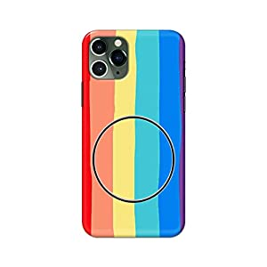 eStuffz for Apple iPhone 11 Pro Max Rainbow Colors with Mobile Holder Pattern Hard Printed Stylish Light Weight Slim…