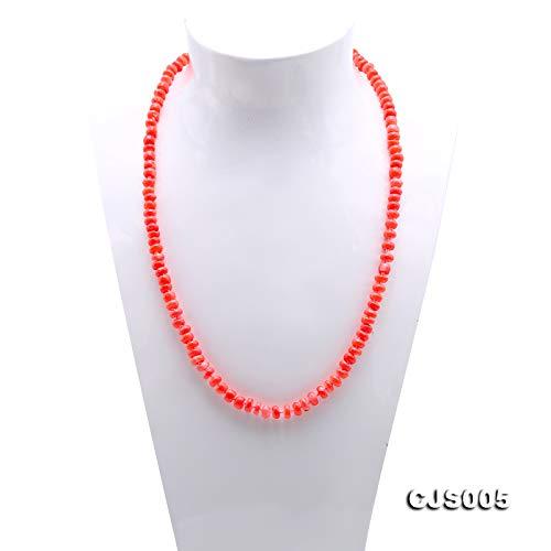 Jyx fine 6,5 7,5/mm en forme de rose en mer Long Corail Collier et bracelet 55,9/cm