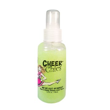 Cheer Chics We've Got Sparkle Hair and Body Glitter, Lime Green, 5.2 Fluid (Cheer Body Glitter)
