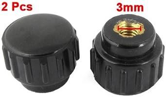 6mm Dia Female Thread 20mm Diameter Head Knurled Knobs 3 Pcs