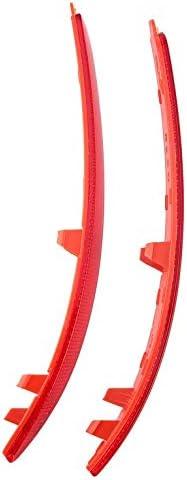 Par de reflectores para parachoques trasero para Skoda para Skoda Octavia 1Z0945105 1Z0945106 ABS rojo reflectante pegatinas para el exterior del coche Greenwood