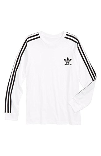 adidas Boys Originals California Long T- Shirts (XL, White)