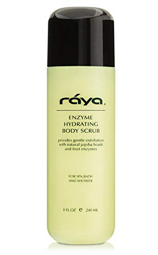 RAYA Enzyme Hydrating Body Scrub 8 oz Pineapple Scent (S-104) | Gentle and Exfoliating Body Scrub | Made with Seaweed, Jojoba Beads, and Fruit Enzymes