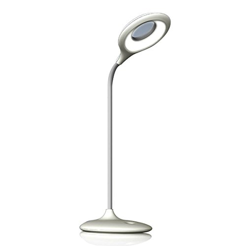Boyon Pro Desk Lamp Touch Sensor Kids LED Eye Care Lamp Light with Adjustable Gooseneck for Home, Pc, Reading, Studying, Working (White)