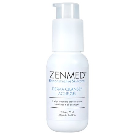 ZENMED Derma Cleanse Acne Gel - 2 oz. Triple-Acid Blended Formulation Combats & Prevents New Acne Formation Heals Existing Pimples & Treats Post-Acne
