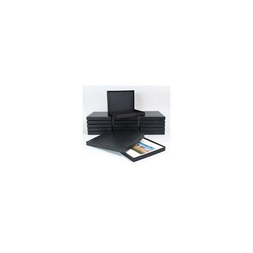 Archival Methods Black Proof Box, Size 13-1/4x19-1/4x1-3/8'', Color: Black by Archival Methods